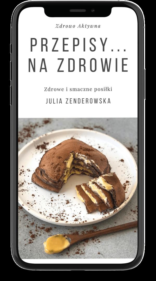 """Okładka e-booka """"Przepisy... Na zdrowie"""" ze zdrowymi smacznymi posiłkami"""
