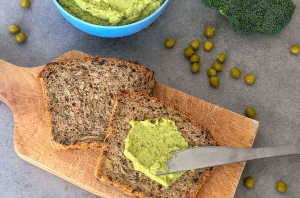 Pasta z groszku i brokuła