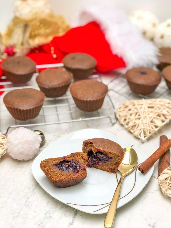 Fit muffiny piernikowe świąteczne