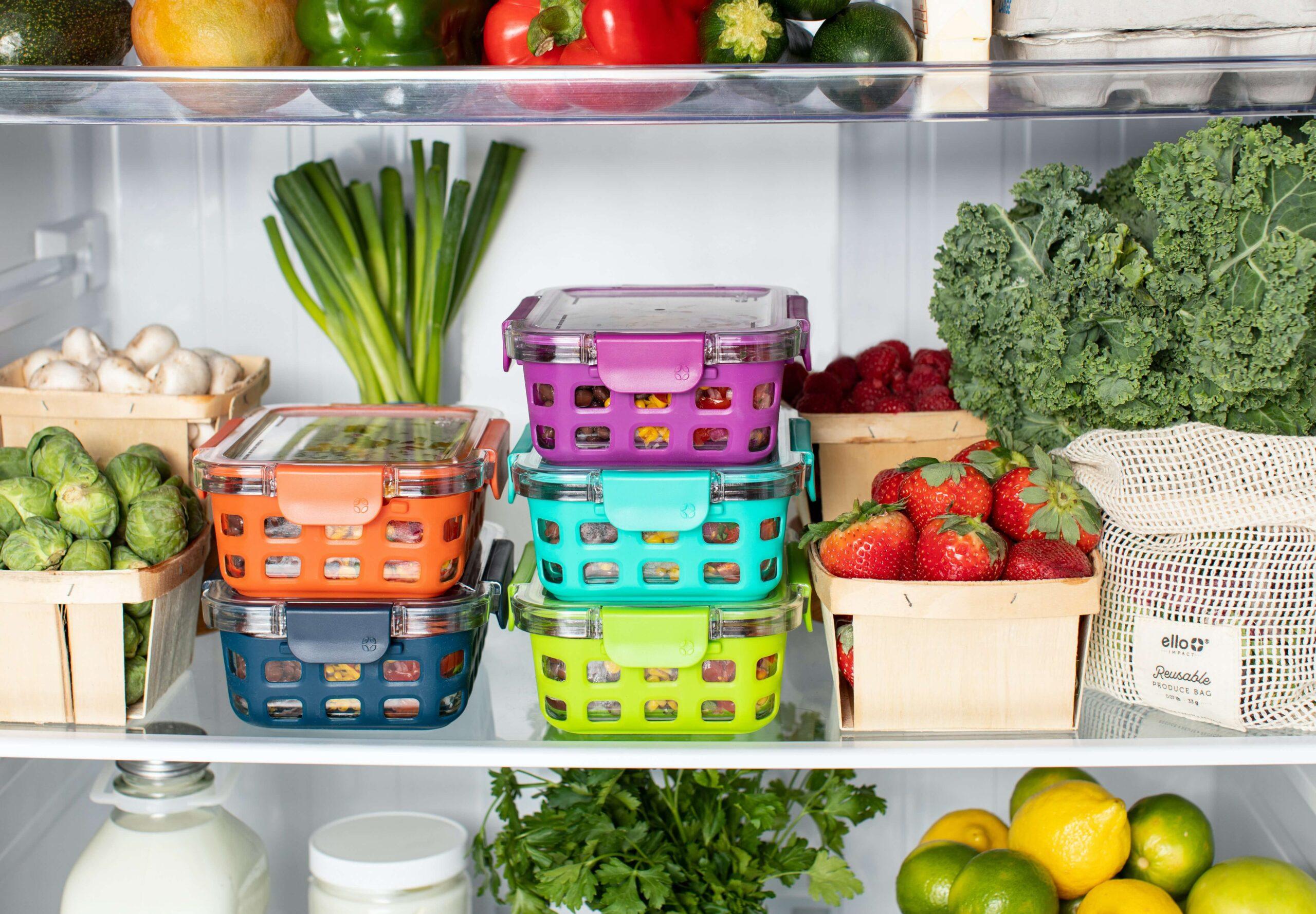 zdrowa żywność w lodówce