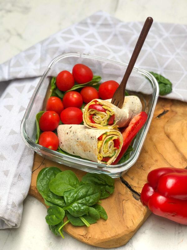 jajevzna tortilla - szybki przepis na zdrowy lunchbox