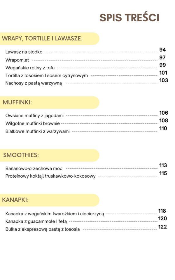 """spis treści1 e-booka """"zdrowie na wynos"""" - pomysły na zdrowe lunchboxy"""